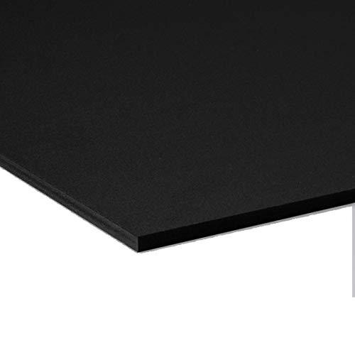 Pannello Lastra Forex pvc nero altissima qualità - spessore 5 mm (Forex nero, 70x100 cm)