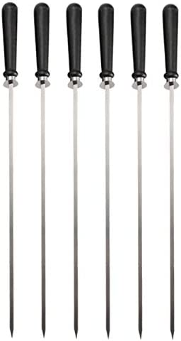 QYER Product Party Skewers 6 Stainless Wood Ranking TOP11 Grilling for Steel