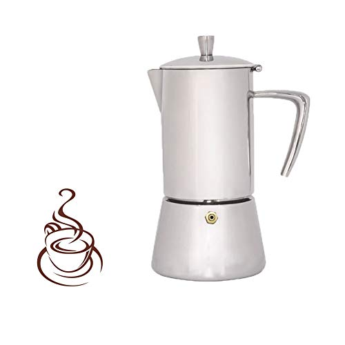 Lowest Price! Moka Pot Mocha Coffee Pot Stainless Steel Coffee Pot Italian Concentrated Mocha Coffee...