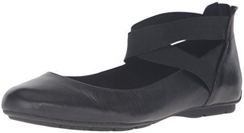 Anne Klein AK Sport Women's Itcanbe Leather Ballet Flat, Black, 7 M US