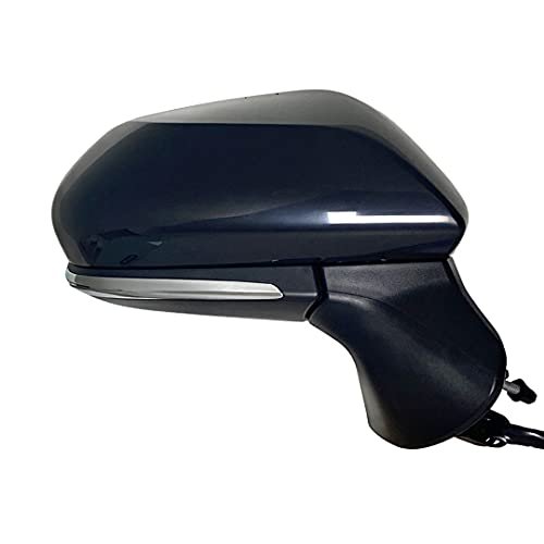 Spieg TO1321404 Passenger Side Mirror for Toyota Avalon 2019-2021 Power Heated w/ Blind Spot Monitor w/ Turn Signal Light Black PTM Cover 7PIN (RH)