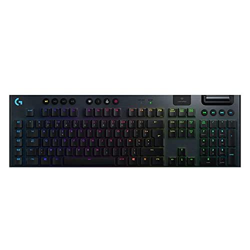 Logitech G915 LIGHTSPEED Clavier Gaming sans Fil Mécanique, Switch ultra-plat GL Clicky, RVB LIGHTSYNC, Design...