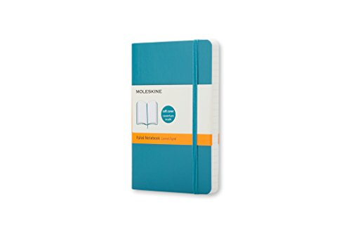 Moleskine Classic Colored Quaderno, Tascabile, a Righe, Underwater Blue