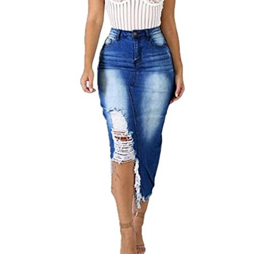 NP Falda larga de bodycon de cintura alta para mujer