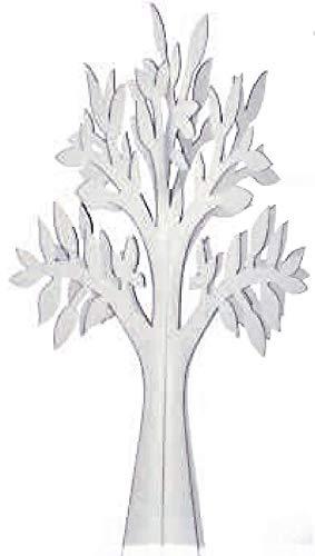 N.1 Albero Decorativo in Cartone Colore Bianco CM 58,5 Made in Italy ALLESTIMENTO Matrimonio Tableau Mariage E VETRINE