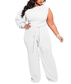 Women Plus Size Black Long Sleeve Playsuit Club Cocktail Jumpsuit Romper White 4X