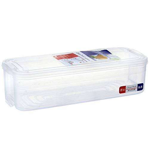 Kirmax 1 Capas de Almacenamiento de Plástico Caja de Recolección Cesta de Cocina Refrigerador Fruta Contenedor de Alimentos Organizador