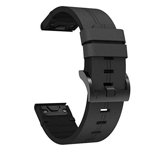 Correa de reloj de cuero genuino de liberación rápida anti-arañazos para Gar-min Fenix 6S/6S Pro/5S/5S Plus/D2 Delta S Smart Watch Correa de cuero de liberación rápida