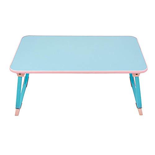 Xiao Jian – klaptafel – laptoptafel met opvouwbaar dienblad Lazy College slaapplaats kantoor kleine tafel – afmetingen: 60 x 38 x 27 cm opvouwbare tafel D