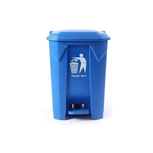 LSHWHT Cubos de Reciclaje Corredor Botes de Basura, Escuela de Hostelería Oficina Multifuncional de Basura al Aire Libre Pedal Bin Recipiente de residuos de plástico Bote de Basura HeWHui