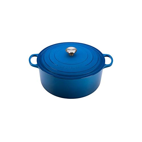 Le Creuset Enameled Cast Iron Signature Round Dutch Oven, 13.25 qt., Marseille