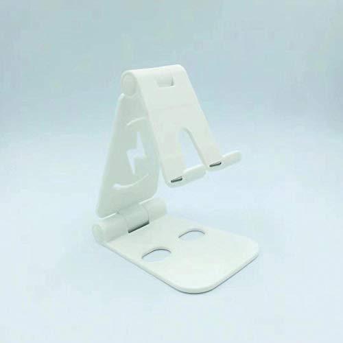 Telefoonhouder van metaal om in te klappen 301 dubbel zout (kunststof) wit