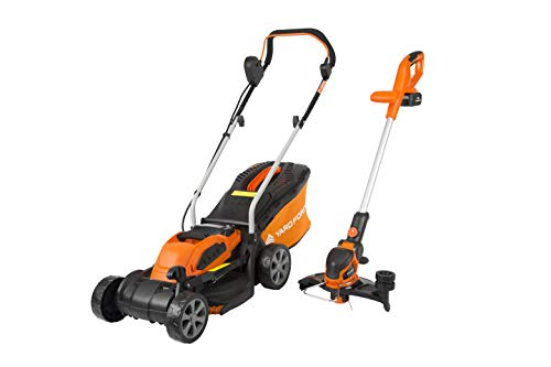 Yard Force 40V 32cm Cordless Lawnmower Plus Cordless Grass Trimmer with ONE Lithium-ion Battery &...