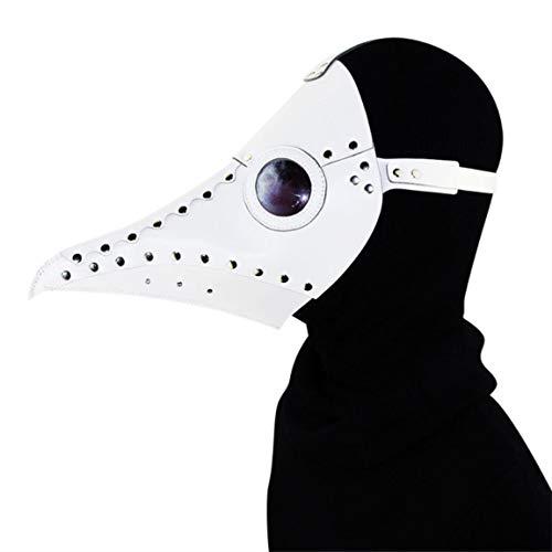 ZISHINE Plague Doctor Mask Halloween Stage Costume Props Steampunk Gothic Retro Cosplay Bird Mask,Bianca
