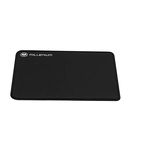 MILLENIUM MSL - Alfombrilla Raton Gaming Profesional (450 x 400 mm, Base Antideslizante, Superficie Optimizada para Control y Velocidad de Juego), Color Negro