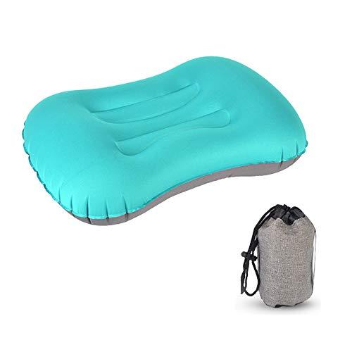 XFCS Cuscino gonfiabile da campeggio, cuscino da viaggio per il collo, cuscino gonfiabile ergonomico per il campeggio, viaggi in vacanza, viaggi, outdoor, Azzurro