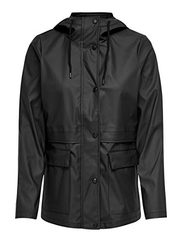 ONLY Damen ONLTRAIN Raincoat OTW Jacke, Black, S