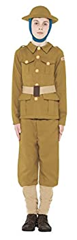 Boys Horrible Histories WW1 Army Military Soldier Guard Wartime World War 1 Historical Fancy Dress Costume Outfit  7-9 Years  Beige