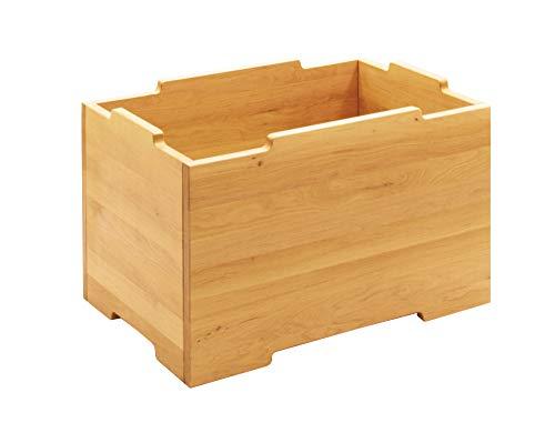 BioKinder opbergkist houten kist opbergkist stapelkist grote massief houten elzen 40 x 60 x 37,5 cm