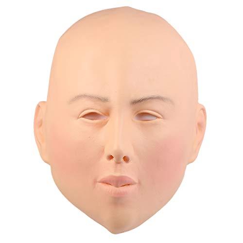 KESYOO 1 máscara de cabeça para cosplay de terror sem cabeça de beleza feminina fantasia de cosplay