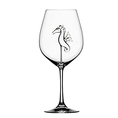 Home The Original Shark Red Wine Glass, Mingfa Wine Bottle Crystal Goblet Glass for Party Flutes Glass Wine Cup Red Or White Wine Champagne (Clear, 1pcs) from Mingfa