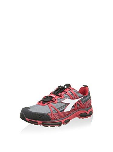 Diadora Unisex-Erwachsene Trail Race, schwarz/grau/rot, 40.5 EU