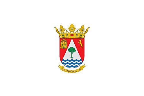 magFlags Bandera Large Municipio de Narboneta Castilla-La Mancha | Bandera Paisaje | 1.35m² | 90x150cm