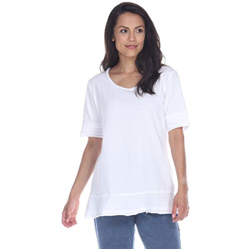 Neon Buddha Womens Tops V-Neck/Boat-Neck Tops for Women. Casual Tops for Women Cotton Tee Shirts