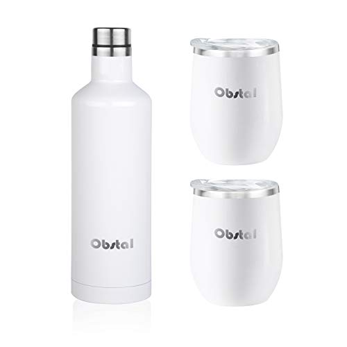 Obstal Insulated Coffee Tumbler Stainless Steel Double Wall Vacuum