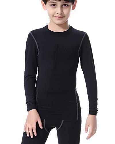 PIQIDIG Boys Girls Long Sleeve Shirts Youth Compression T-Shirts Football Basketball Undershirts Sports