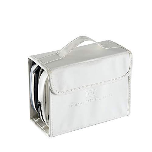 Moderno Simplicidad Bolsa De Maquillaje,Colgando Bolsa De Aseo,Multifunción Plegable Neceser,para Los Hombres,Mujeres Y Niños-Blanco 22.5x9x16.5cm