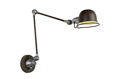 Lucide Honore - wandlamp - E14 - roestkleur