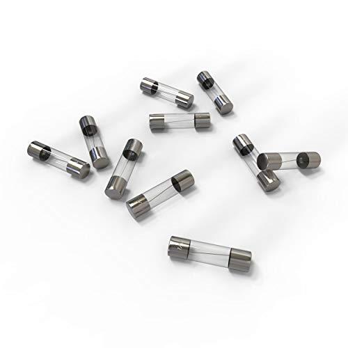 AUPROTEC Glassicherung 5x20mm Feinsicherung 1A - 20A Schmelzsicherung Auswahl: 1A Ampere, 10 Stück