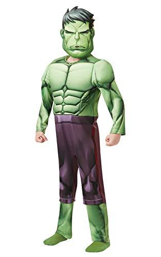 Rubies 640839M Marvel Vengadores Hulk Deluxe disfraz infantil para niños de 5 a 6 años