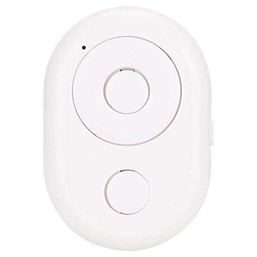 Yuyanshop Y1 Universal Manos Libres Mini Inalámbrico Bluetooth 3.0 Teléfono Móvil Selfie Control Remoto Inalámbrico para iOS/Android Teléfono Móvil (Blanco)