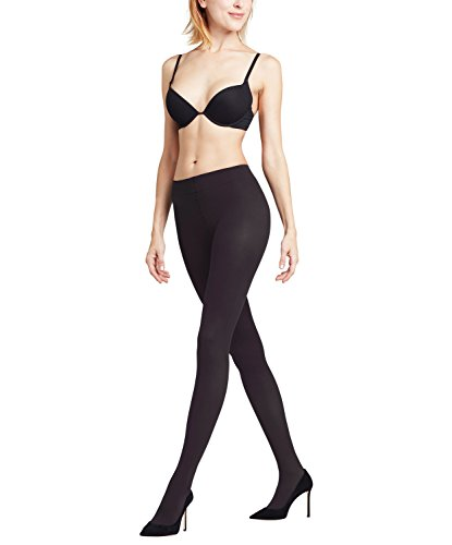FALKE Damen Seidenglatt Strumpfhose, Smallchwarz (Black 3009), Medium