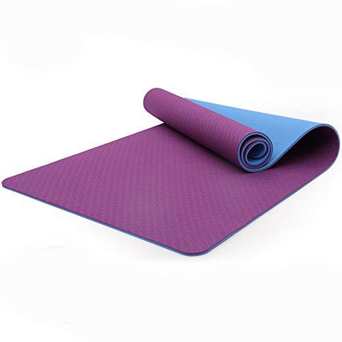 Tappetino addominali casa,Tappeto yoga spesso,Tappetino fitness antiscivolo,Extra Spessore,183*66*0.6CM,Con borsa da yoga,Ideale per Palestra,Esercizi del Pavimento,Campeggio,Stretching,ABS,Pilates