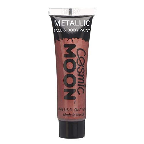 Cosmic Moon - Peinture de maquillage métallique pour le visage et le corps - 12ml - Créez des motifs de maquillage métallique fascinants pour visage! - Inclut: Rouge