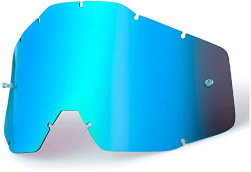 100% ACCURI/STRATA Jugend- Ersatzlinse W/Posts - Spiegel / Smoke Anti-Nebel, Blau , Größe One Size