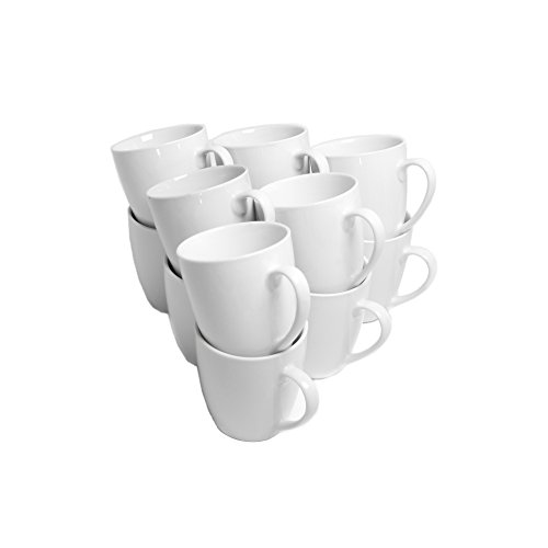 10 Strawberry Street Catering Set 10-Ounce Mug, Set of 12