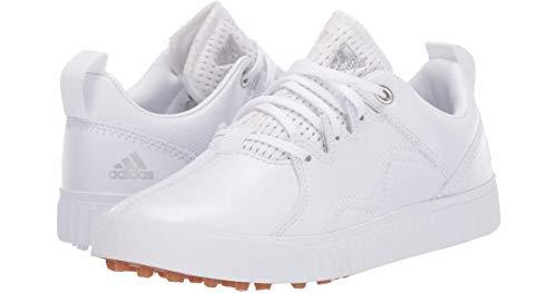 ADIDAS Jr Adicross PPF, Zapatillas de Golf Niño, Blanco (Blanco/Plata BB8035), 35 EU