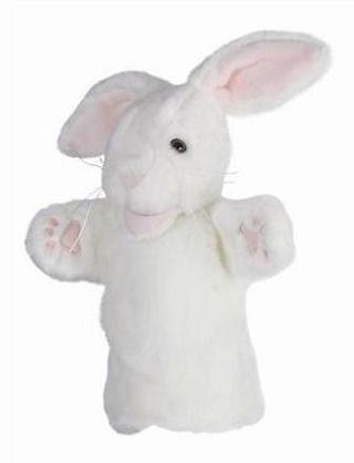 alles-meine.de GmbH Handpuppe - Hase / Kaninchen - Häschen Tier Haustier Bauernhof - Handspielpuppe / für Kinder & Erwachsene - Osterhase - weiße Hasen - Plüsch Kasperletheater P..
