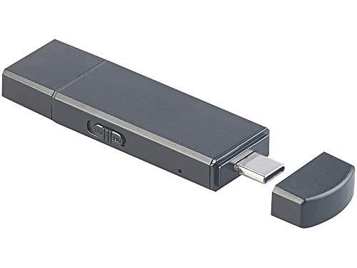 auvisio Digitaler Voice Recorder: 2in1-USB-Stick & Voice-Recorder, VOX-Funktion, 96 Std, 8 GB, OTG (USB Aufnahmegerät)