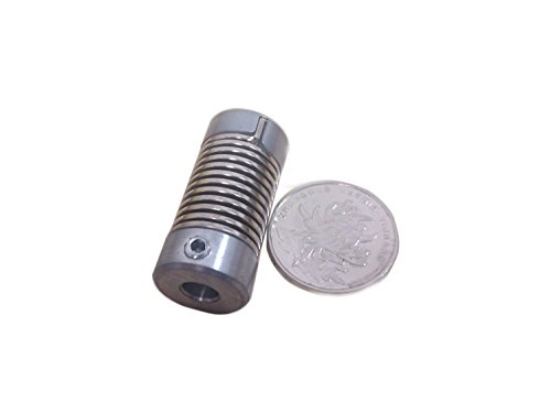 8mm to 8mm Shaft Coil Steel Flexible Spring Coupling D16 L35-2pcs