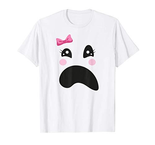Disfraz de niña fantasma, fácil de Halloween Camiseta