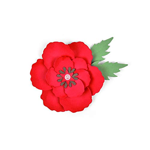 Sizzix Poppy Troquel, Multicolor, Unica