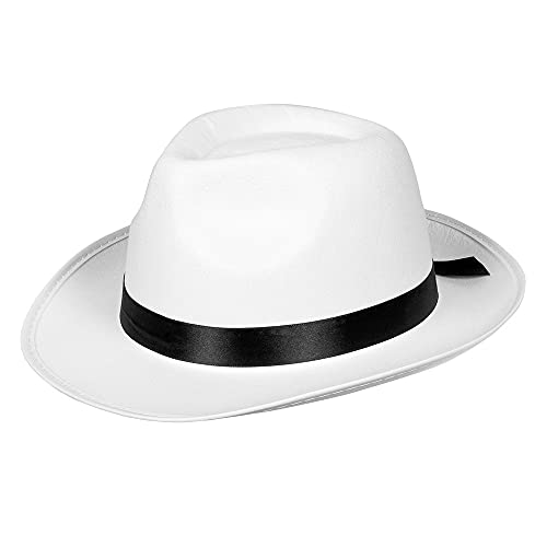 Boland 04372 - Mafia-Hut, Weiß-Schwarz, Unisex, Kopfbedeckung, Mütze, Gangster, Charleston, 20er Jahre, Kostüm, Karneval, Mottoparty