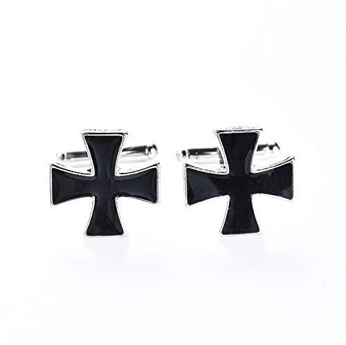 ZHJ Gemelos Símbolo en Forma de Cruz de Hierro Alemana Retro Negro Personalizado Botones