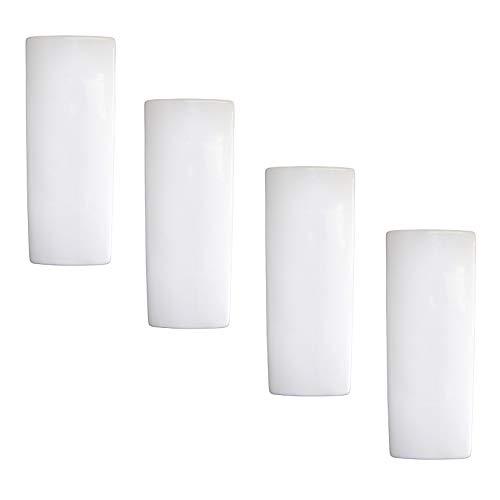 Juego de 4 unidades de humidificadores de cerámica blanca neutra para acoplar al radiador, calefacción, agua, evaporador, difusor a11386