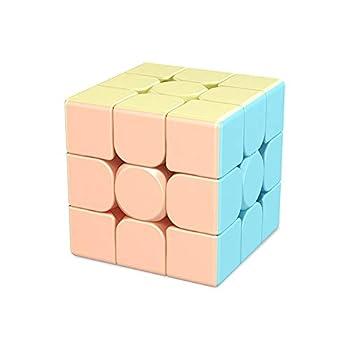 CuberSpeed Moyu MoFang JiaoShi Macaron Meilong 3x3 stickerless Magic Cube MFJS MEILONG 3x3x3 Cubing Classroom Meilong 3x3 Macaron Speed Cube